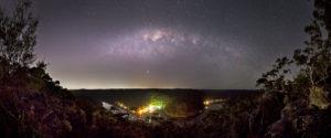 The Milky Way sets over Berowra Waters Marina