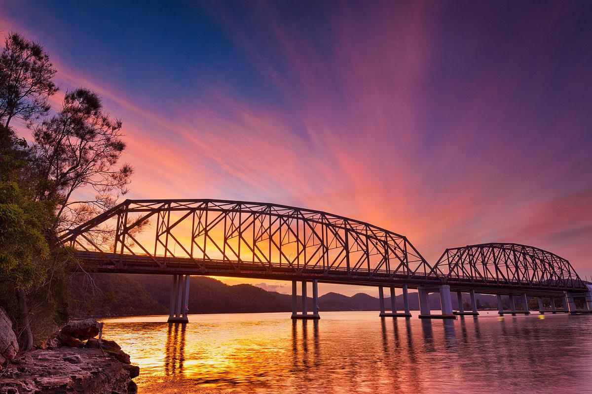 Peats Ferry bridge, Hawkesbury bridge, Kangaroo Point Brooklyn